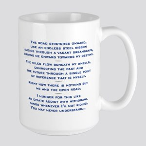 "[""The Road Stretches Onward...""] Large Mug"